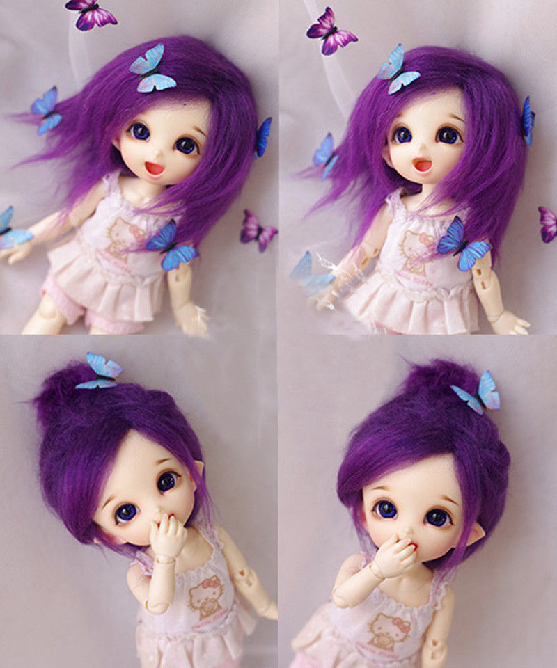wamami Gray Medium Wool Wig//Hair 1//8 PUKIFEE AE LATI BJD Dollfie 14cm