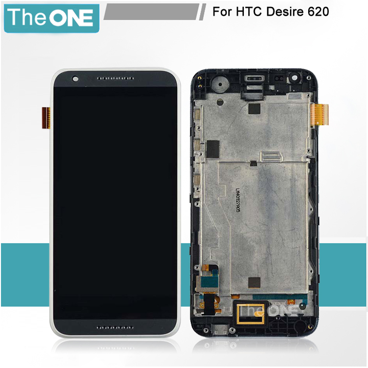 Frame LCD Display Touch Screen Digitizer Assembly Replacement For HTC Desire 620 Free Shipping