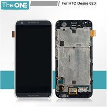 + Rahmen LCD Display + Touch Screen Digitizer Assembly Ersatz Für HTC Desire 620 Kostenloser Versand