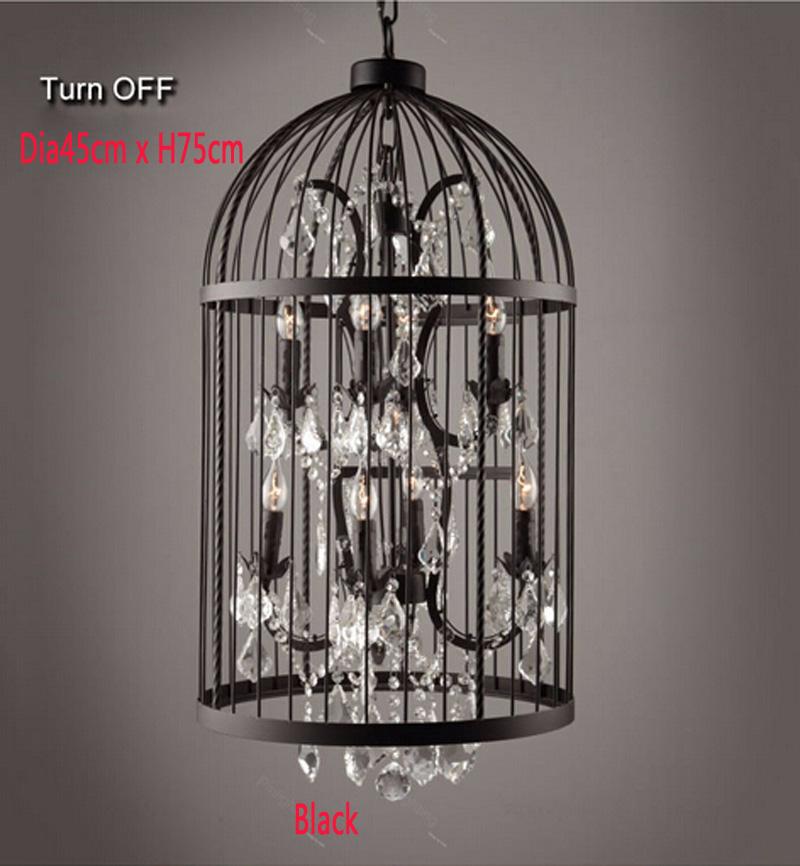 Retro-Lamparas-Black-Decor-American-Vintage-Industrial-Bird-Cage-Pendant-Light-With-Crystal-Ornaments-Nordic-Birdcage115