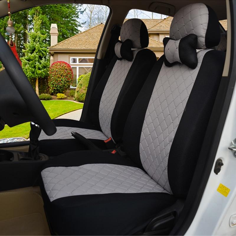 (Front + Rear) Universal car seat covers For Nissan Qashqai Note Murano March Teana Tiida Almera X-trai auto accessories car rear trunk security shield cargo cover for nissan qashqai 2015 2016 2017 high qualit auto accessories