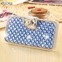 Kisscase со стразами стенд Шелковый сальто кожи кожаный чехол для iPhone 7 6 6 S 5 5S SE бумажник Chic Слот для карты элегантный телефон Сумки
