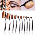 MAANGE 10 Style Toothbrush Shape Oval Makeup Brushes Set Eyebrow Cream Powder Blush Foundation Makeup Tools