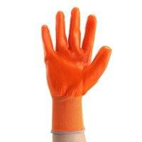 Новый 12 пар Оранжевый ПВХ тяжелых химически стойкие рукавицы Предметы безопасности работы Перчатки на рабочем месте Предметы безопасности