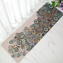 Antislip Velvet Bathroom Door Mat Absorbent Bath Mat Slow Rebound Memory Foam Bathroom Carpet Floor Rug 40*120cm For Home Decor
