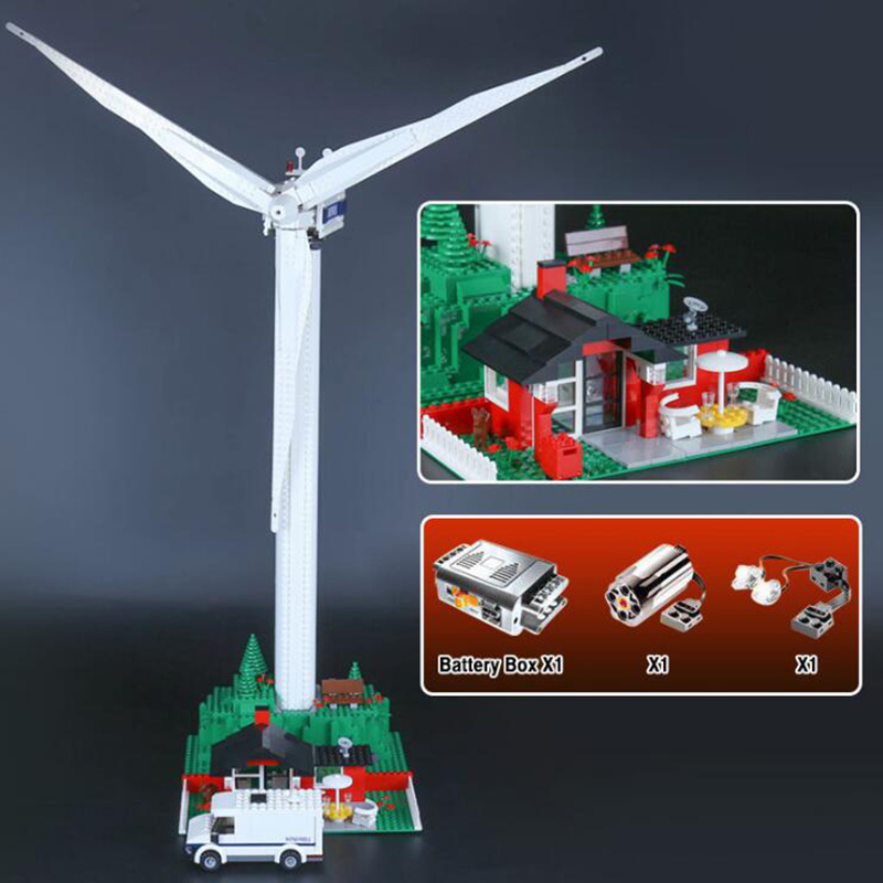 37001 Creative city Series The Vestas Windmill Turbine Set bricks Children Educational Building Blocks Toys Model oyuncak lepin 37001 creative series the vestas windmill turbine set children educational building blocks bricks toys model for gift 4999