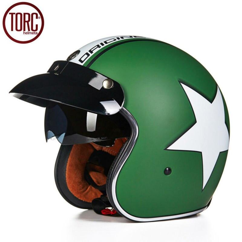 TORC Motorcycle Helmet Harley Open Face Vintage Cruiser Helmet T57F Moto Casque Casco motocicleta Capacete DOT Helmets