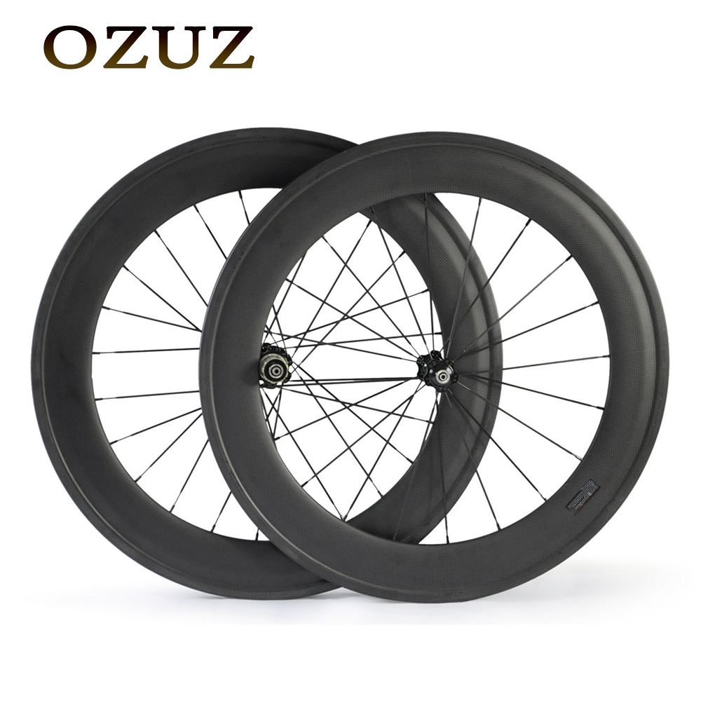 Free custom Fee 88mm carbon wheelset 700c Carbon Wheels Clincher Tubular Road Bicycle Bike Racing Wheelset Standard Wheel velosa supreme 50 bike carbon wheelset 60mm clincher tubular light weight 700c road bike wheel 1380g
