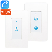 Smart Life Tuya App US Wifi Switch Smart Touch Panel Switch Smart Home Automation Works With Google Home Assistance Alexa IFTTT sonoff th10 th16 smart wifi switch monitor temperature humidity wifi smart switch home automation kit support alexa google home
