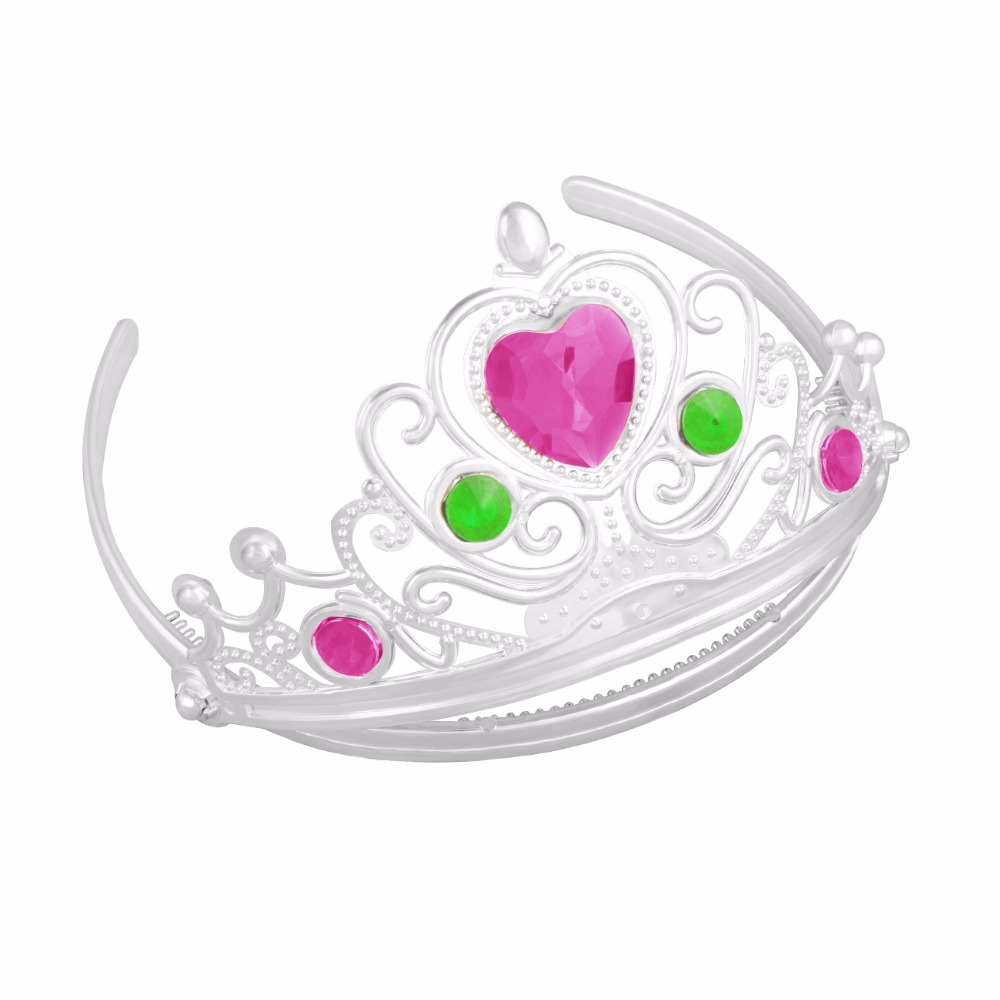 Valentines Day Crystal Tiara Hairband Kid Girl Bridal Princess Prom Crown Party Show Accessiories Princess Prom Crown Headband