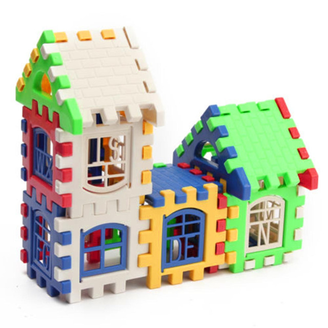 24pcs Building Blocks Kid House Building Blocks Construction Developmental Toy Set 3D Bricks Toy Construction Bricks GYH