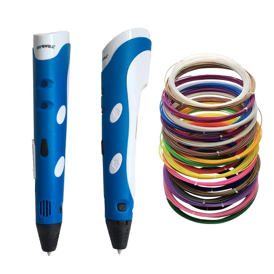Prix pour 1.75mm ABS DIY 3D Impression 3D Pen Stylo Maker + Livraison Filament fil + Adaptateur Cadeau Créatif Pour Les Enfants cadeaux Conception Peinture Dessin