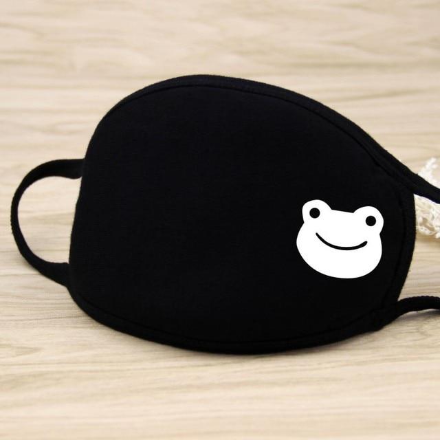2019 Winter Mouth Mask Cotton Cute Anti Haze Black Dust Mask Nose Windproof Face Muffle Bacteria Flu Fabric Cloth Respirator 2