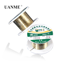 цена на 100M Alloy Steel Cutting Line 0.05mm 0.06mm 0.08mm 0.1mm Molybdenum Wire for Phone LCD Screen Separating