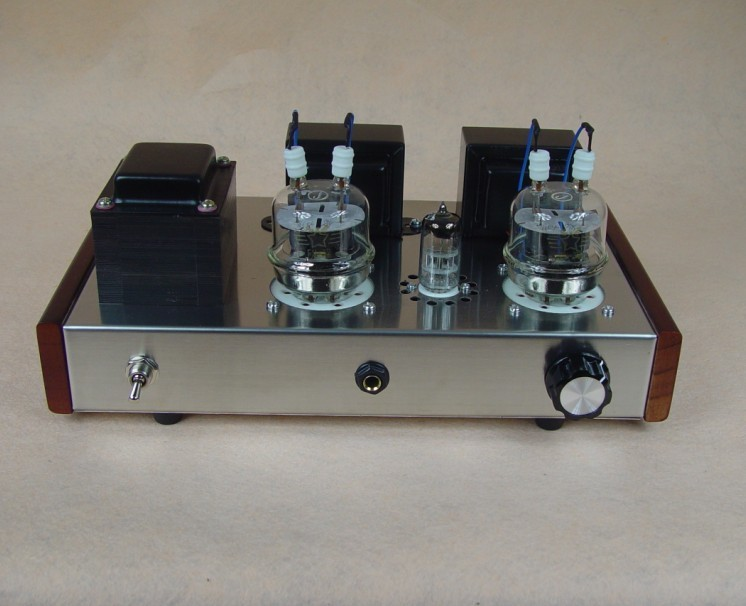 Finished 6N2+ FU32 Single-Ended Tube Headphone Amplifier Power amp 4W+4W finished 6n2 fu32 vacuum tube amplifier single ended tube power amp 110v or 220v version available