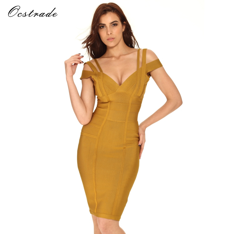 8d47faa003ec2 Ocstrade New Women Bodycon Dress 2018 Summer Sexy Bandage Off Shoulder Sexy  High Quality Wine Red Bandage Dress Rayon Plus Size