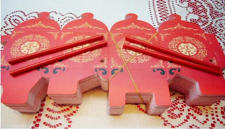 100 pieces Chinese Asian Style Red Double Happiness Sedan Chair Wedding favor box party gift favor candy box in Gift Bags Wrapping Supplies from Home Garden
