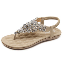 Strong zinc new summer nationality Sandals flowers Bohemian foreign trade large size flat shoes women sandal