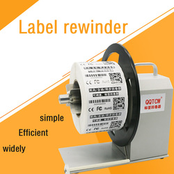 QQTCW-Q5 automatic label rewinding machine barcode label rewinding machine two-way winding labeling machine