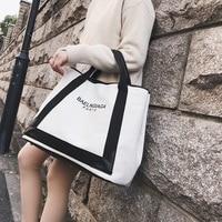 2019 new ladies canvas bag shoulder bag fashion Messenger bag trend bucket bag