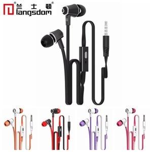 Image 1 - Original Langsdom JM21 JM26 EG5 Earphones with Microphone Super Bass Earphone Headset For iphone xiaomi earphone for Smartphone