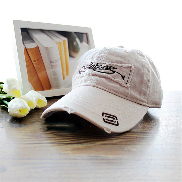 HOT!Free shipping 2016 Men's Baseball cap casual Sun Hat  applique logo adjustable white cotton washing cap for summer dress