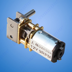 Image 4 - GW12GA 2 80rpm DC 6V 12V smallest Worm gear motor Low speed mini gear box Reversible Electric engine for Smart car Robot Lock