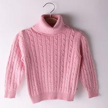 Высококачественный детский пуловер свитер с высоким воротником
