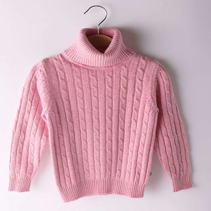 High Quality Children's Pullover Turtleneck Sweater Soft Kids Cashmere Sweater Warm Girls & Boys Wool Sweaters Jumper 90-170 cm turtleneck long high low sweater