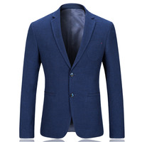 Casual Suit For Men Blue High Quality Autumn Spring Non Ironing Fashion Suit Business Dress Blazer