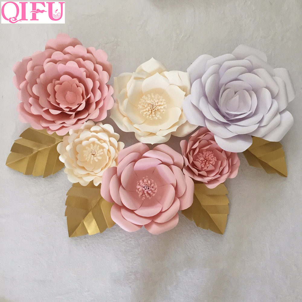Qifu 1cs 30cm 40cm Small Large Paper Flower Wall Decor Giant Diy Wedding Backdrop Party Supplies Birthday Party Decorations Kids