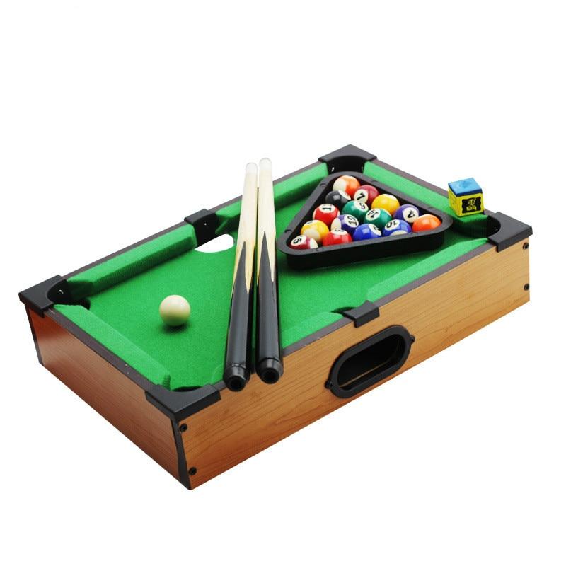 Retro Wooden 8 Ball Pool Family Cue Sports Billiards Mini Table