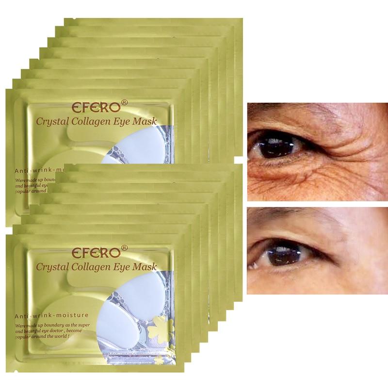 EFERO 5pair 10pcs Collagen Eye Mask Eye Pads Skin Care Hydrogel Patches for Eyes Mask Anti