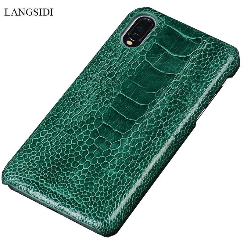 Étui Original en cuir d'autruche pour Xiao mi mi 9 mi 8 explorer les couvertures arrière pour mi 8 SE Lite Carcas de luxe pour mi Note 7 rouge