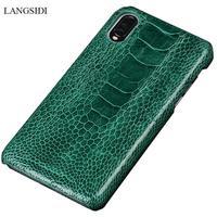 Original Ostrich Leg Leather case For Xiaomi Mi 9 Mi 8 Explore back covers For MI 8 SE Lite Luxury Shell Carcas For Redmi Note 7
