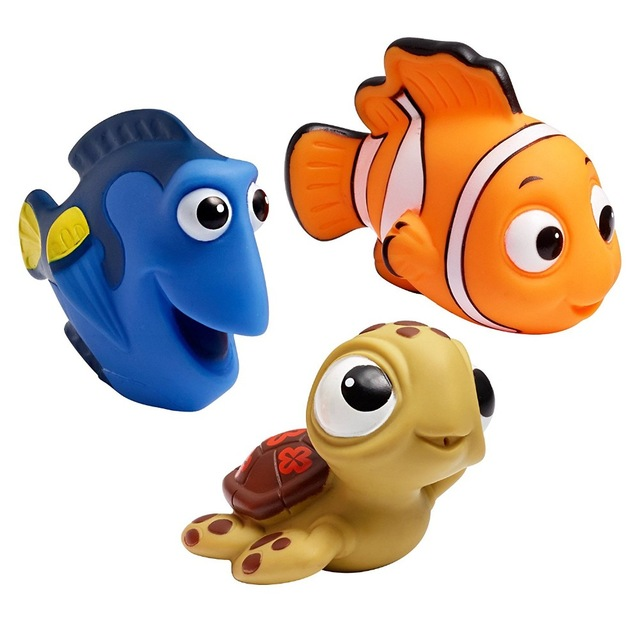 3Pcs Set Finding Nemo Baby Bath Squeeze Squirt Toys Soft Rubber Bathroom Play Animals Bath Figure Toy For Children