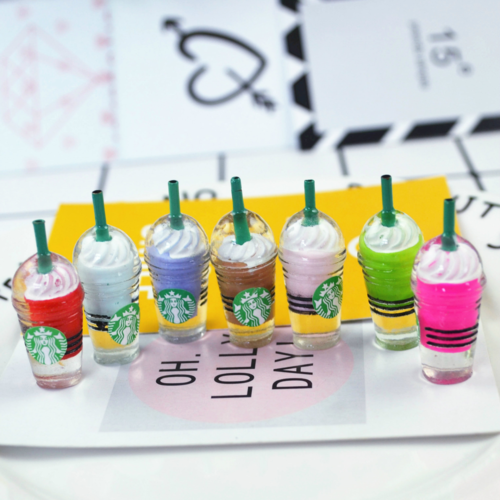 Straw Cup Ice Cream Cup Charms For Slime DIY Polymer Filler Addition Slime Accessories Toys Lizun Modeling Clay Kit For Children