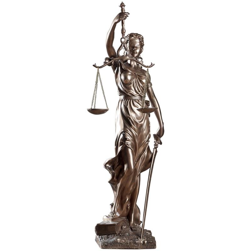 47cm high European retro justice goddess sculpture fair goddess statue abstract figure figurine home office law
