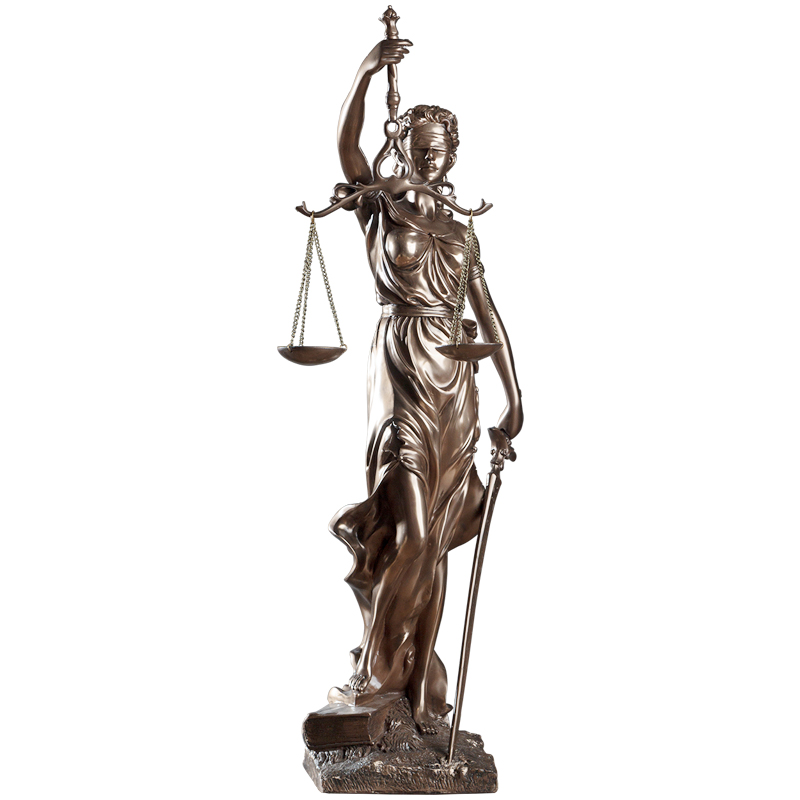 47cm High European Retro Justice Goddess Sculpture Fair Goddess Statue Abstract Figure Figurine Home Office Law Firm Decoration