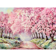 MOYOU 5D Diy Diamond Painting Cartoon Pink Forest Cross Stitch Square Diamond Mosaic Diamond Embroidery handcrafts недорого