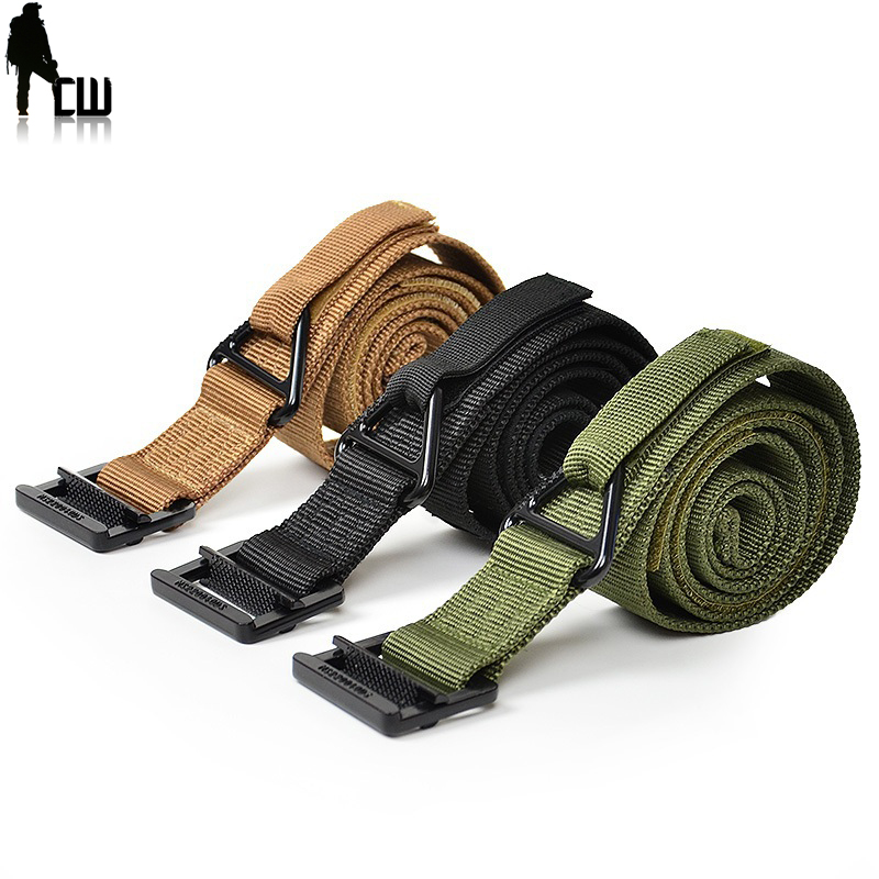 Military Equipment Blackhawk Tactical Belt Men  Combat Outdoors Nylon Military Belts Adjust Hunt Emergency Rigger Survival