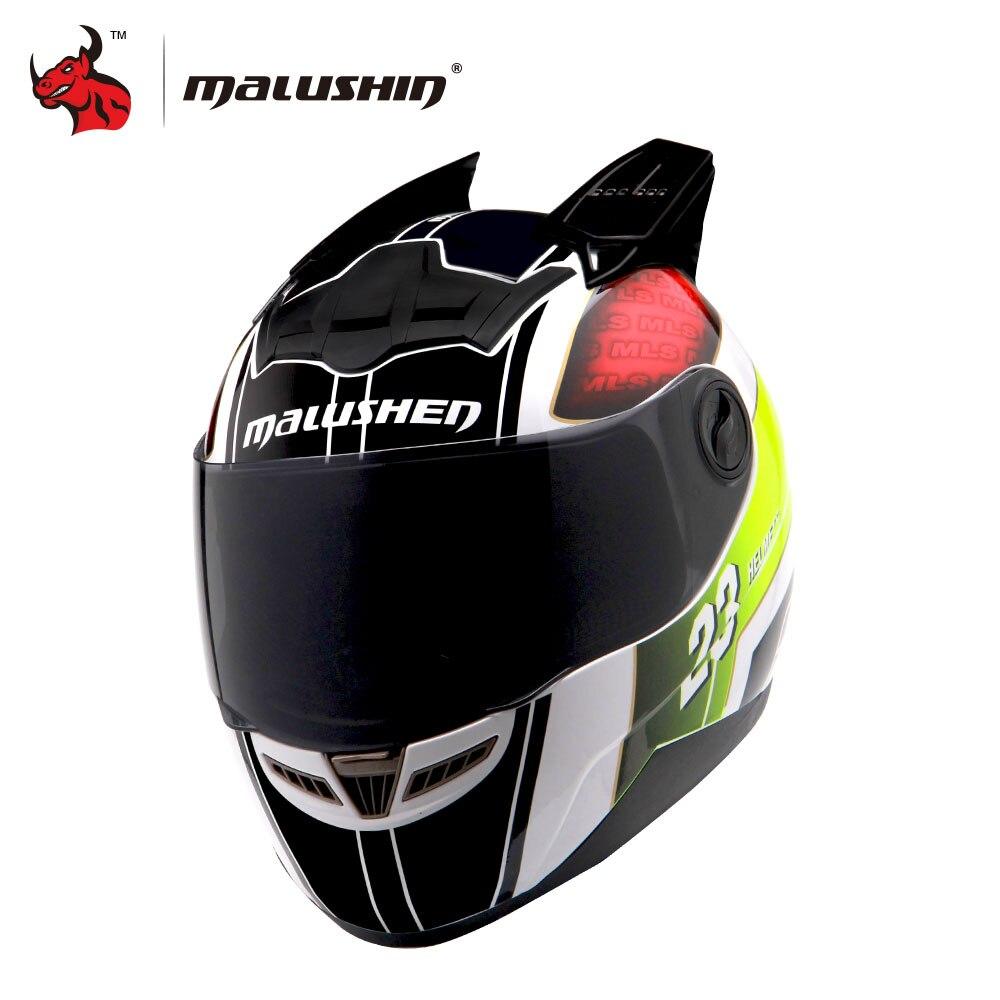 MALUSHUN Män / Kvinnor Cascos Para Moto Flip Up Motorcykelhjälm Full Face Racing Hjälmar Capacete Casque Personlighet Moto Capacete