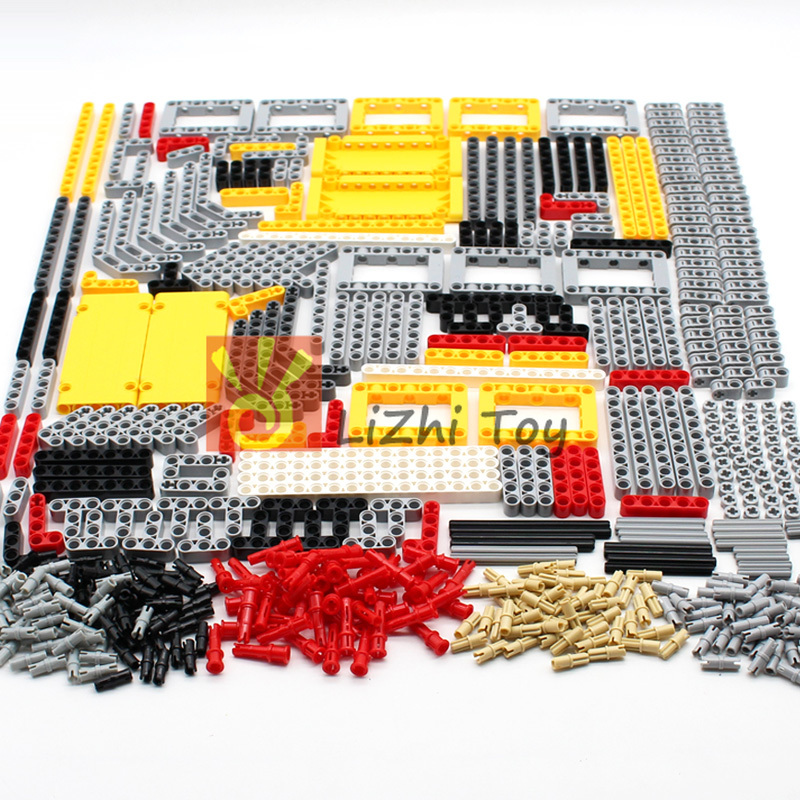 Blocks Technic Parts Liftarm Beam Cross Axle Connector Panel MOC Accessory Toys Car LegoINGlys Bulk Parts Building bricks 548PCS(China)