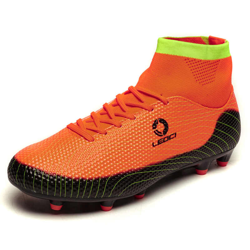 05ba4ce1905 ... New Football Boots Men Soccer Shoes Boys Kids Soccer Cleats FG High  Ankle Football Shoes Big ...