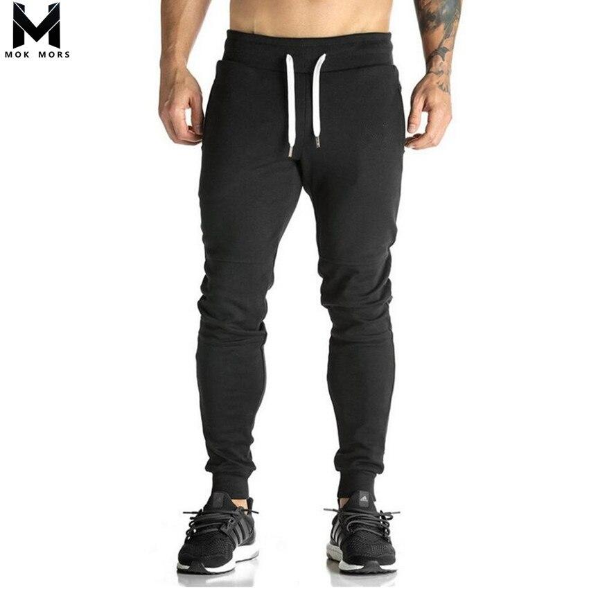 2019 Men Full Crand Sportswear Pants Casual Elastic Cotton Mens Fitness Workout Pants Skinny Sweatpants Trousers joggers Pants
