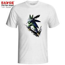 Perfect Cell T-shirt Dragon Ball Z Anime Rock Style T Shirt Ink Hand Drawn Design Print Punk Fashion Women Men Top Tee