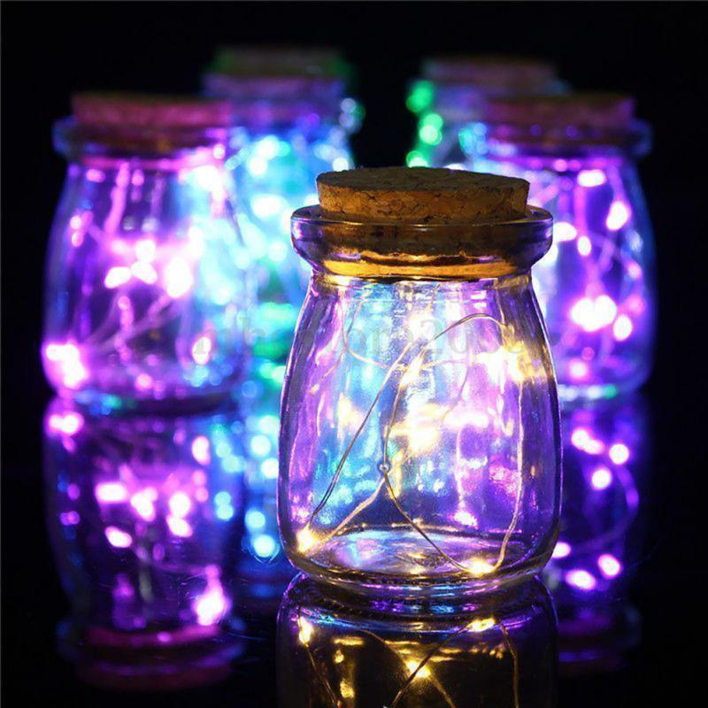 Bottle Lights Waterproof Flexible Copper Wire String Lights For BBQ Wedding Wine Bottle Stopper DIY Holiday Decor Colorful Lamp