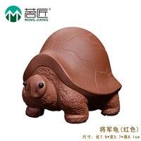China Tea Artisan Kung Fu Tea Set Tea Pet Set Accessories The Quality Manual Purple Turtle
