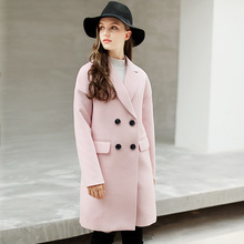 Coats Time-limited Full Solid Slim Turn-down Collar Bamboo Fiber 2017 New Large Size Korean Wool Coat All-match Dress Casual