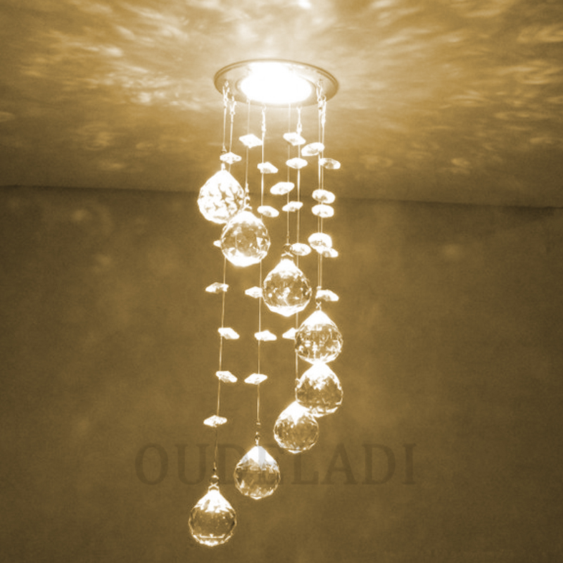 Modern New Suspension Hanging Crystal LED 3W Ceiling Lights decorative aisle walk indoor living room home Modern New Suspension Hanging Crystal LED 3W Ceiling Lights decorative aisle walk indoor living room home illumination Lamps